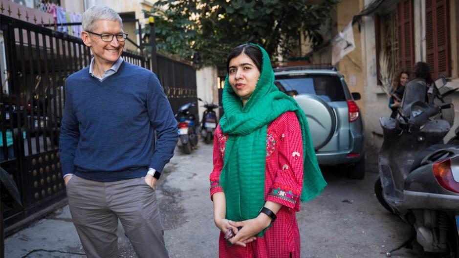 Malala Yousafzai Tim Cook