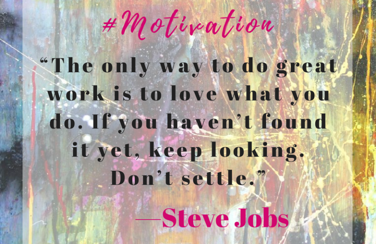 Steve Jobs inspirational quote
